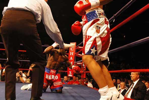 Andre Bertó resbaló en el primer asalto.