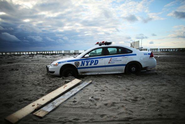 El barrio de Rockaway, Brooklyn, arrasado por la tormenta Sandy.