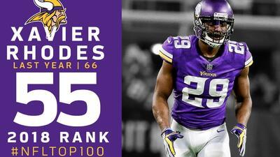 #55 Xavier Rhodes (CB, Vikings) | Top 100 Jugadores NFL 2018