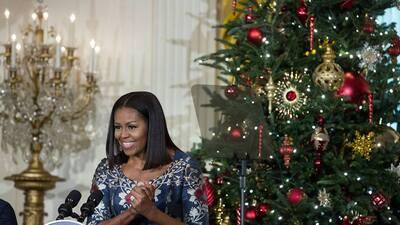 Así ha decorado Michelle Obama su última Navidad en la Casa Blanca