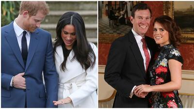 Príncipe Harry, Meghan Markle, princesa Eugenie y Jack Brooksbank