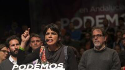 Teresa Rodríguez, candidata de Podemos por Andalucía.