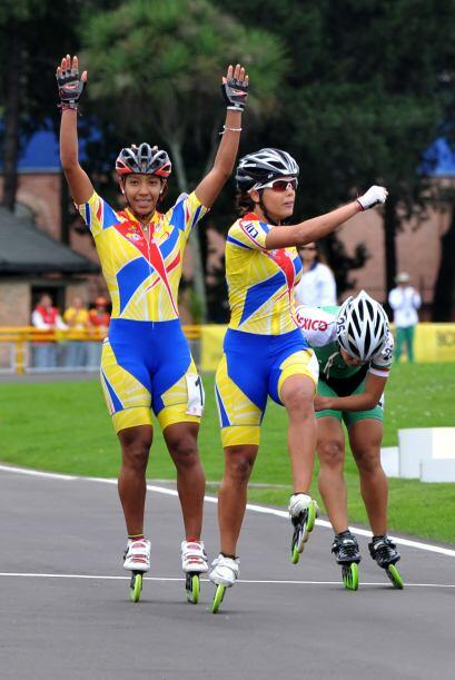 Colombia se adjudicó  4 medallas de oro en patín carrera, en las pruebas...