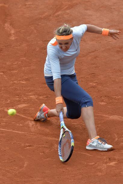 Azarenka nunca ha superado los cuartos de final del Grand Slam de París,...