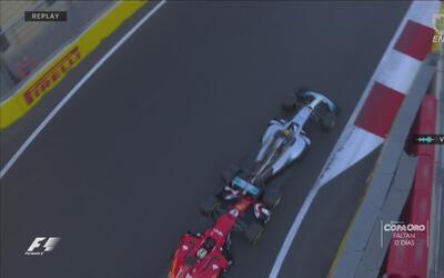 Hamilton y Vettel juegan a los 'carritos chocones' en Azerbaiyán