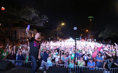 Fans attend Univision's 'Fan Fair' event at La Villita in downtown San A...