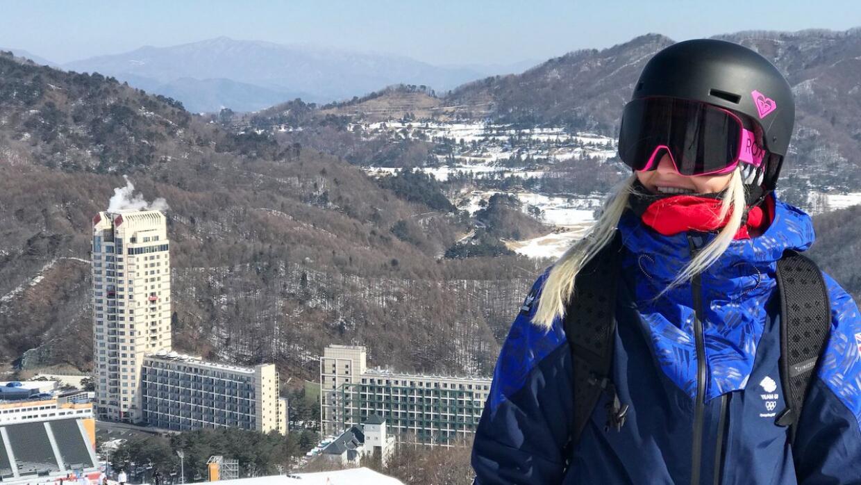 La atleta británica ya había entrenado en Pyeonchang.