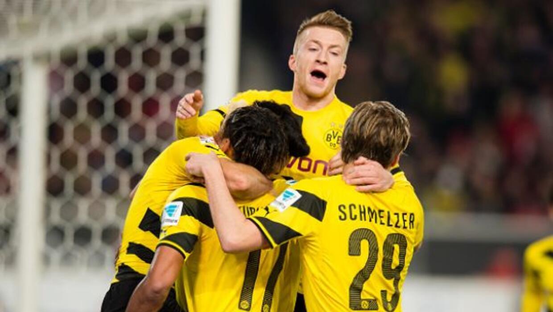 Marco Reus, Ilkay Gündogan y Aubameyang marcaron los goles del Dortmund.