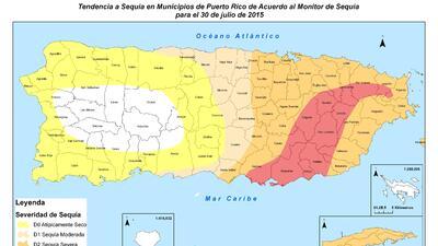 Estatus de la sequía en PR hasta el 30 de julio de 2015.