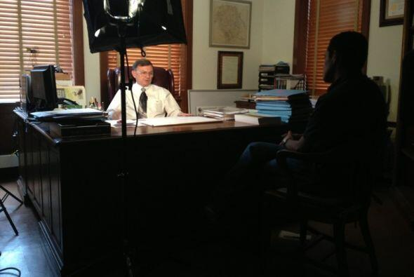 Entrevistando al Juez del condado Dewitt, Dary L. Fowler