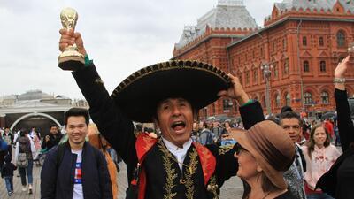La Torre de Babel en Rusia: el colorido de los hinchas se toma las calles de Moscú