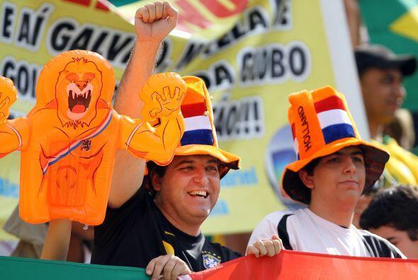 Pero en las tribunas para el duelo de los holandeses ante Brasil también...