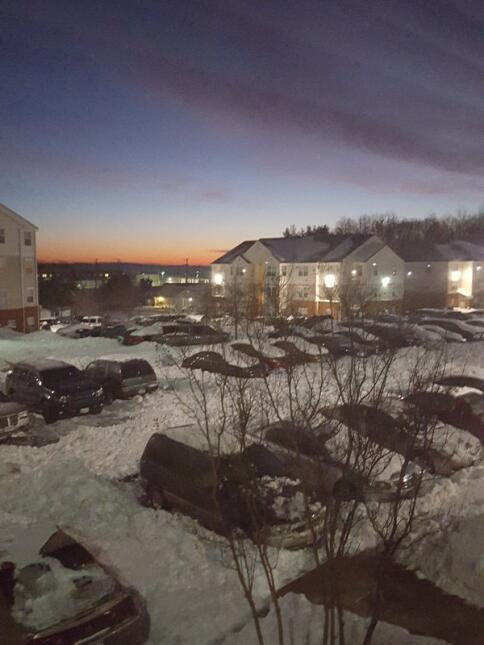 Radioescuchas del show enviaron fotos de la tormenta invernal.