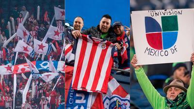 Aficionados de Chivas 'compitieron' en Seattle ante los Sounders