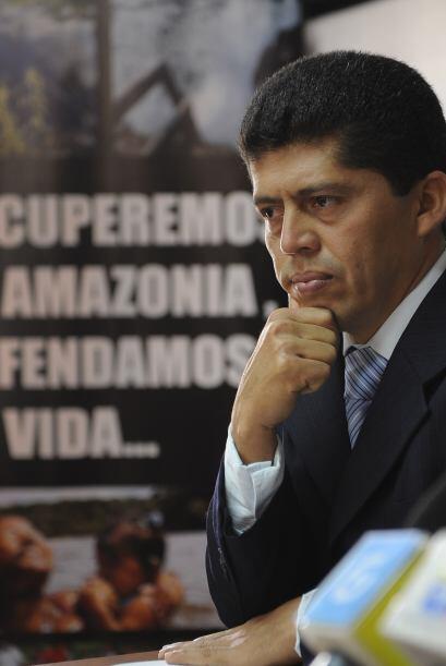 Pablo Fajardo, abogado de los demandantes informó como Texaco firmó un c...