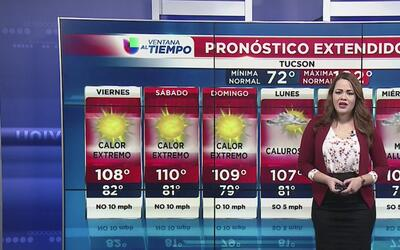 Advertencia de calor con riesgo de incendios forestales en Arizona