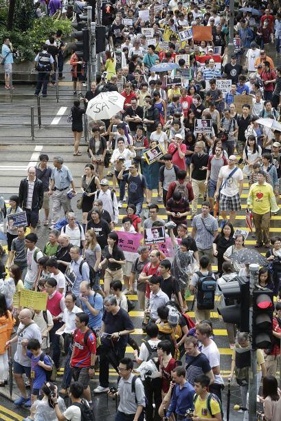 La marcha tiene lugar dos días después de que Edward Snowden revelara al...