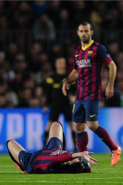 Pues el defensor sufrió una lesión seria en el partido entre el Barcelon...