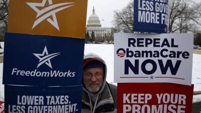 Manifestación conservadora en contra del proyecto republicano, considera...