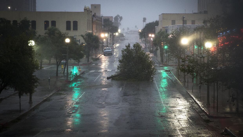 Paso del huracán Harvey por el estado de Texas.