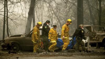 Han hallado 66 muertos por los incendios en California y aún buscan a más de 600 desaparecidos