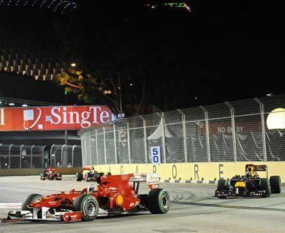 GP de SINGAPUR, 26 de septiembreFernando Alonso ganó el Gran Premio de S...