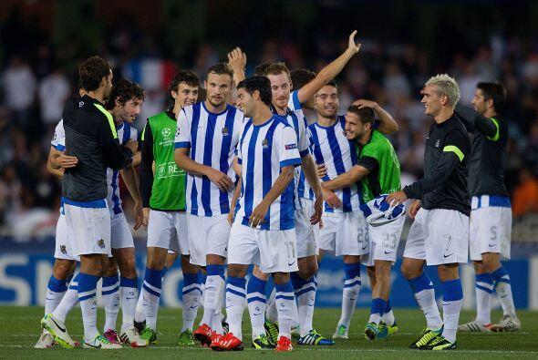 La Real Sociedad volvió a vencer al Lyon, esta vez en Anoeta, y se clasi...
