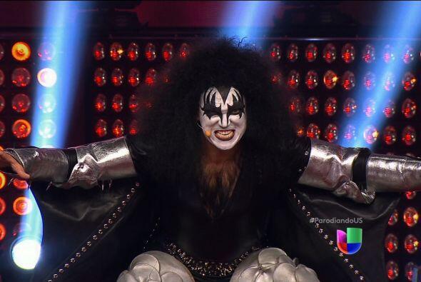 """Hasta Gene Simmons, de Kiss, puso a vibrar a todos en el set de """"Parodia..."""
