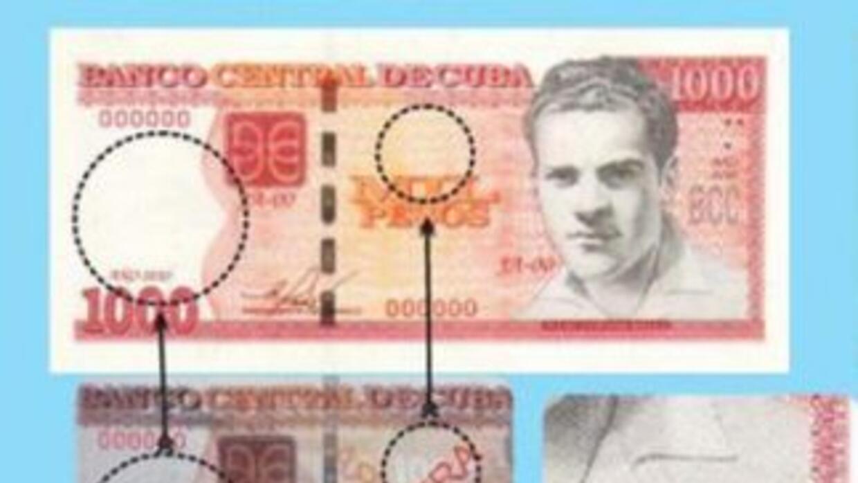 Imagen difundida en Twitter sobre los nuevos billetes en Cuba, que estar...