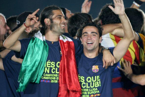 Xavi no pudo disputar la final de la Liga de Campeones que el Barça ganó...
