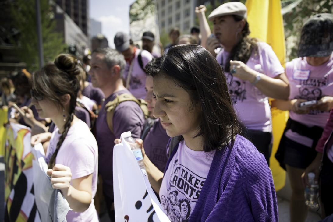 La activista Hondureña Laura Cáceres, hija de Bertha Cáceres (activista...
