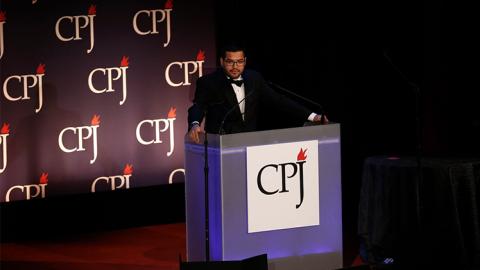 Óscar Martínez, aquí en los Premios Internacionales...