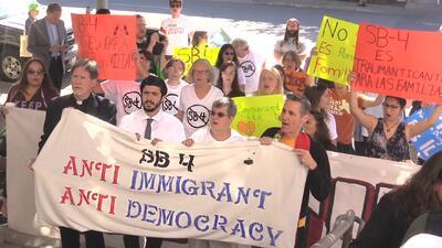 Las protestas del 1 de mayo en Texas se enfocaron en rechazar la medida antisantuario SB4