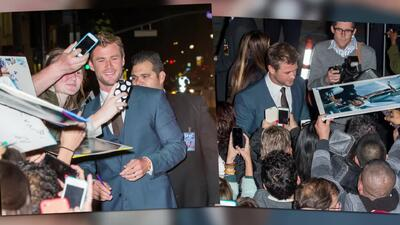 Chris Hemsworth enloquece a la multitud en el lanzamiento de Blackhat