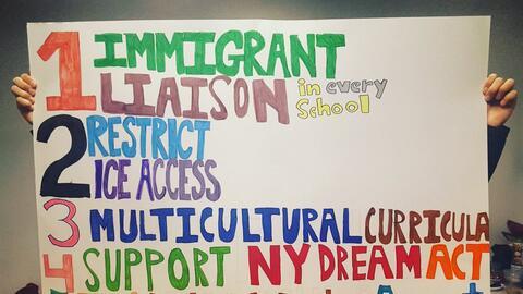 Estos son algunos de los reclamos de maestros y organizaciones al Depart...