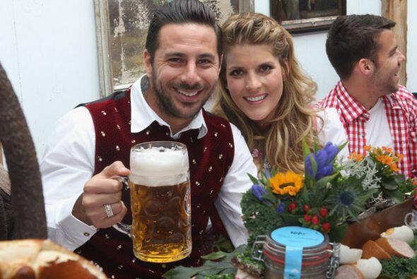 Jugadores y el cuerpo técnico del Bayern Múnich disfrutaron como cada añ...