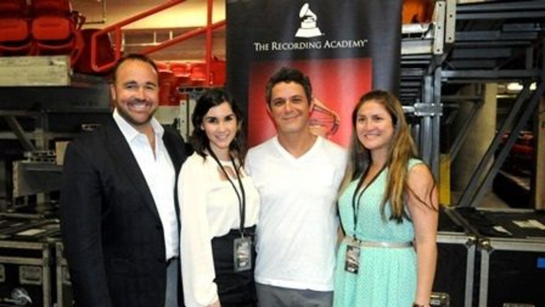 A través del programa educativo 'GRAMMY U Soundchecks', Alejandro Sanz d...