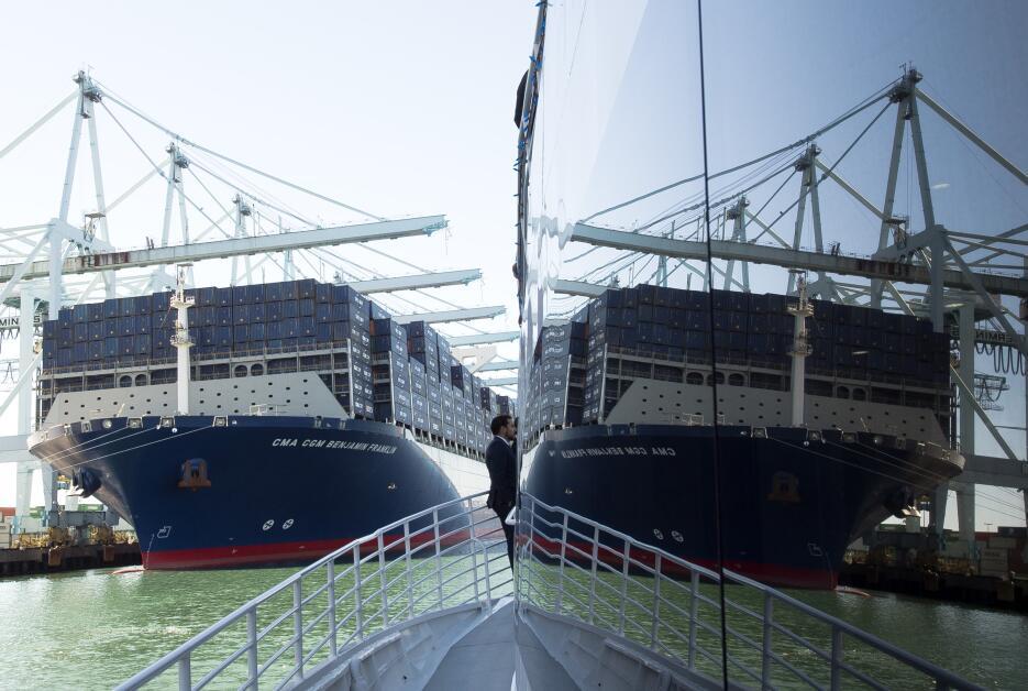 Puerto de Los Ángeles recibe al mayor barco portacontenedor en llegar a USA