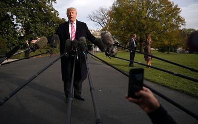 Donald Trump se enfrenta constantemente a los medios de comunicaci&oacut...