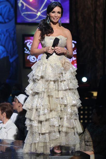 Al final de la primera gala de Nuestra Belleza Latina, Giselle lució est...
