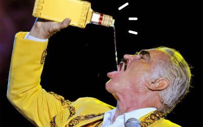En sus conciertos Chente mostró siempre entusiasmo por el tequila