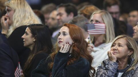 Seguidoras de Hillary Clinton durante la noche electoral en Nueva York.