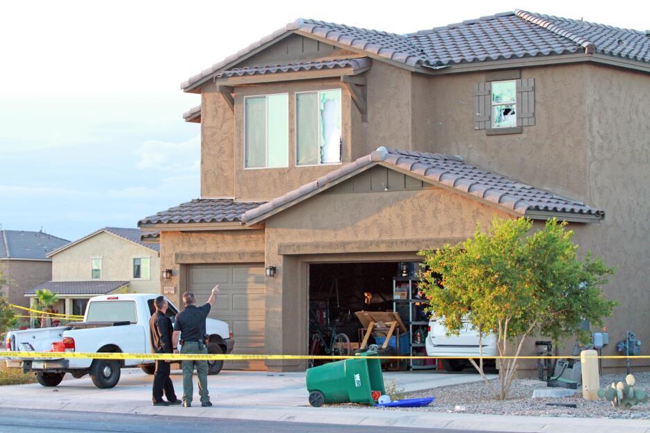 Imágenes de la vivienda donde ocurrió el enfrentamiento entre el agente...