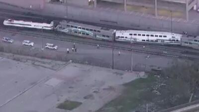 Tren se descarriló en el centro de Los Angeles