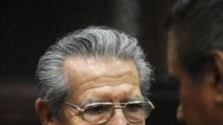 Ríos Montt en su juicio en Guatemala.