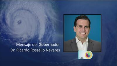 Mensaje del gobernador Ricardo Rosselló a Puerto Rico con motivo del paso del huracán María