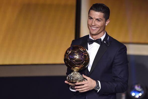 El portugués Cristiano Ronaldo conquistó el trofeo al mejo...