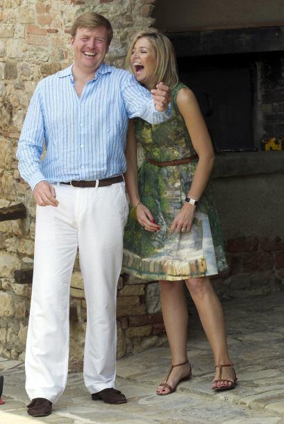 La pareja es la más popular de la Familia Real holandesa, sobre todo gra...
