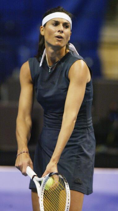 La argentina Gabriela Sabatini marcó una época para el tenis latinoameri...