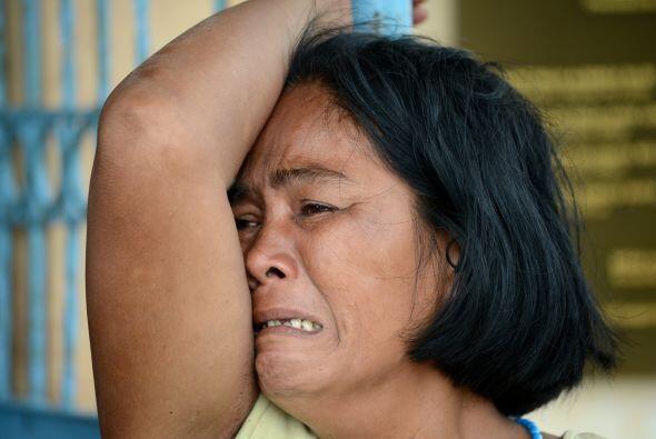 Esta mujer llora la muerte de su hijo. (AFP/Getty)